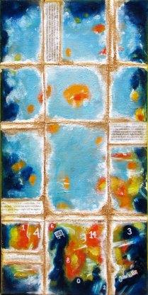 Mixed Media Acrylic Painting on Canvas Asheville North Carolina Gabrielle Dearman