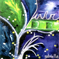 Acrylic Painting on Canvas Asheville North Carolina Gabrielle Dearman