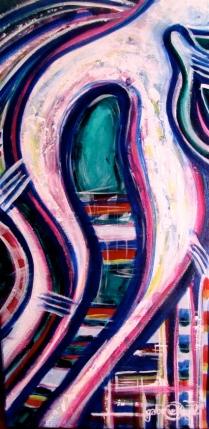breathe Acrylic Painting on Canvas Asheville North Carolina Gabrielle Dearman