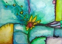 Watercolor Painting on Cold Press Paper Asheville North Carolina Gabrielle Dearman