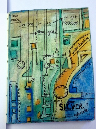 Watercolor Art Journal Entry
