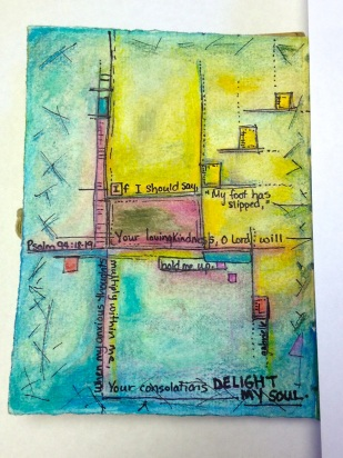 Futuristic Abstract Artwork Colored Pencil Drawing and Watercolor Painting on Paper Asheville North Carolina Gabrielle Dearman