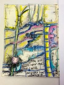 Futuristic Abstract Artwork Colored Pencil Drawing on Paper Asheville North Carolina Gabrielle Dearman