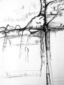 Futuristic Abstract Artwork Sketchbook drawing Pen Drawing Asheville North Carolina Gabrielle Dearman