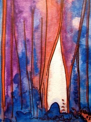 "Watercolor on Cold press paper : 5"" x 7"""